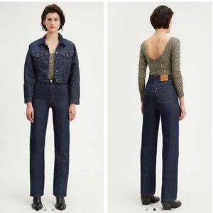 NWT Levi's ribcage straight jeans 24